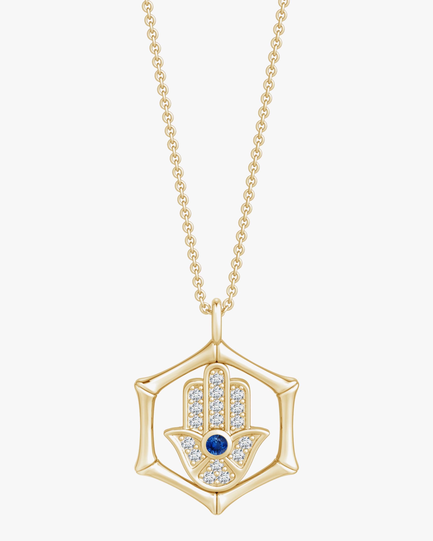 Natori Hamsa Bamboo Pendant Necklace 0