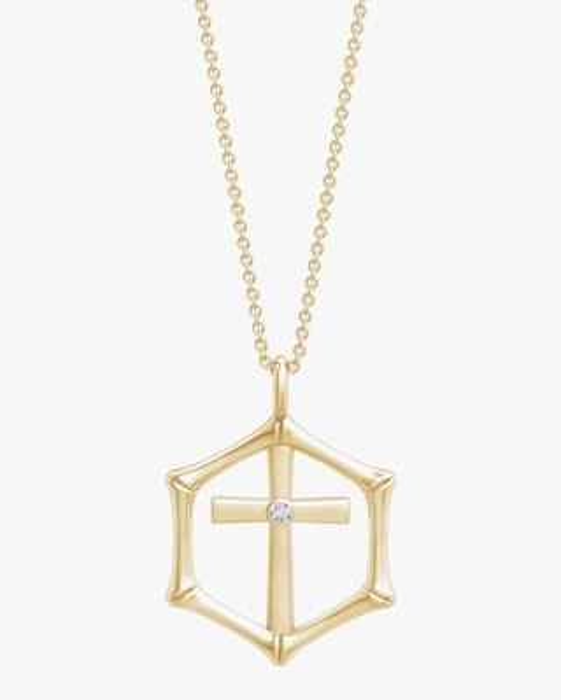 Natori Cross Bamboo Pendant Necklace 1