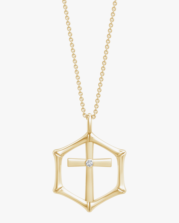 Natori Cross Bamboo Pendant Necklace 0