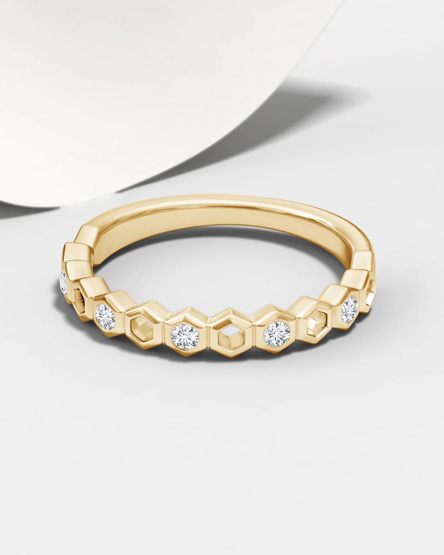Natori Alternate Hexagonal Diamond Band 2