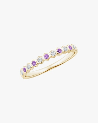 Natori Hexagonal Diamond & Amethyst Band 1