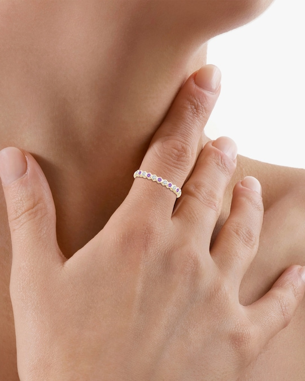 Natori Hexagonal Diamond & Amethyst Band 1