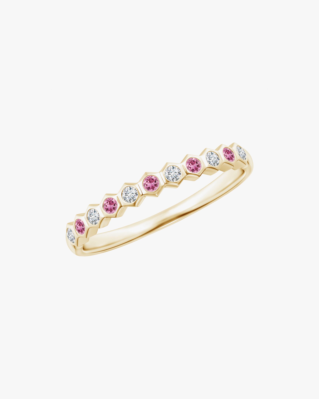 Natori Hexagonal Diamond & Pink Tourmaline Band 0