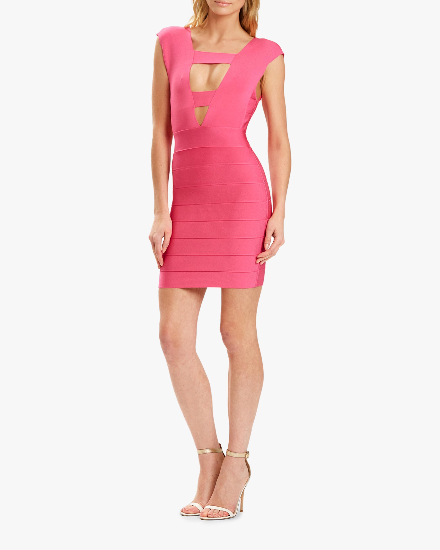 Herve Leger Deep V Strappy Mini Dress 2
