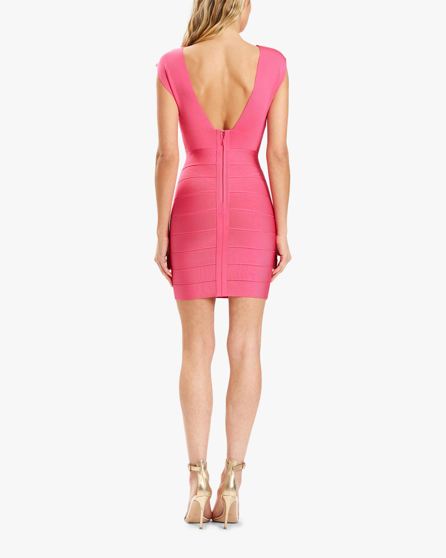 Herve Leger Deep V Strappy Mini Dress 3