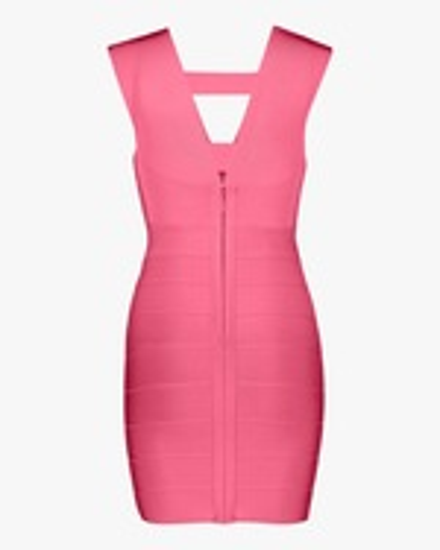 Herve Leger Deep V Strappy Mini Dress 4