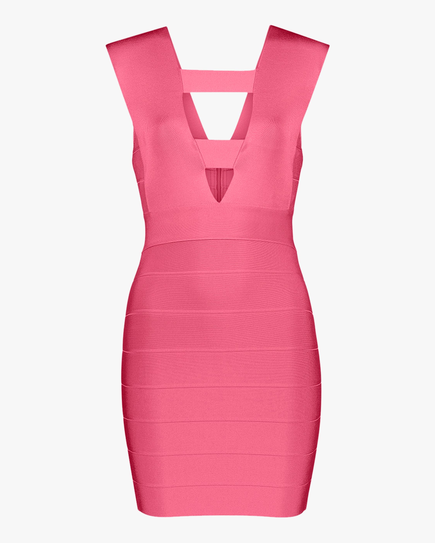Herve Leger Deep V Strappy Mini Dress 1