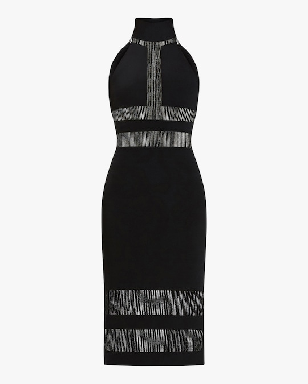 Herve Leger Halter Column Dress 0