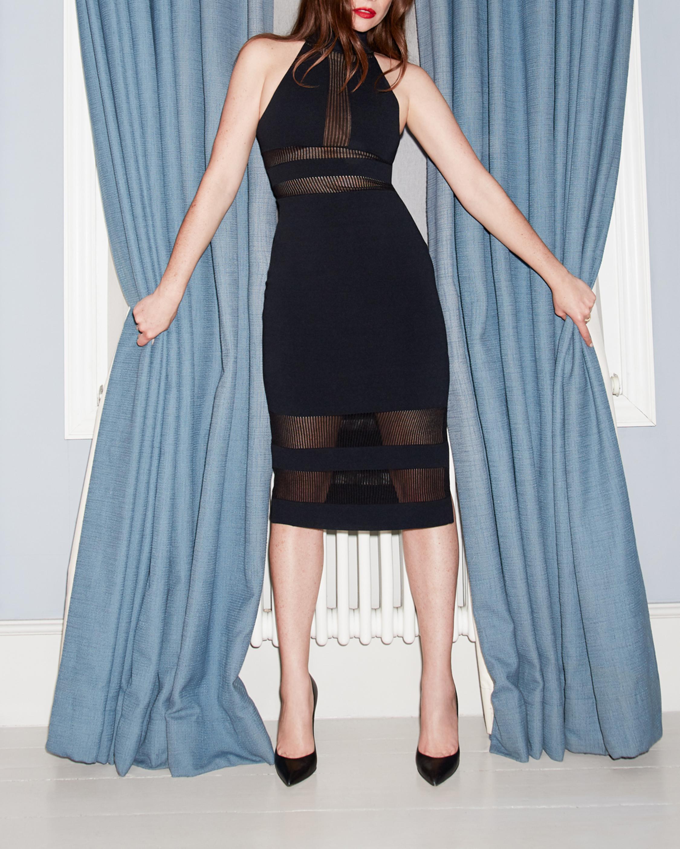 Herve Leger Halter Column Dress 2