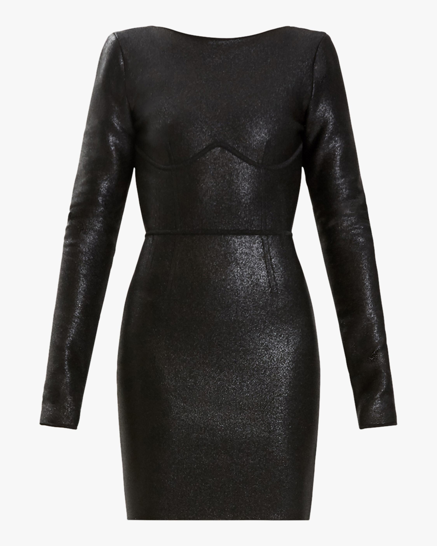Herve Leger Disco Open-Back Mini Dress 0
