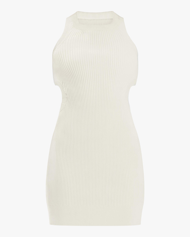 Herve Leger Rib-Cutout Mini Dress 0