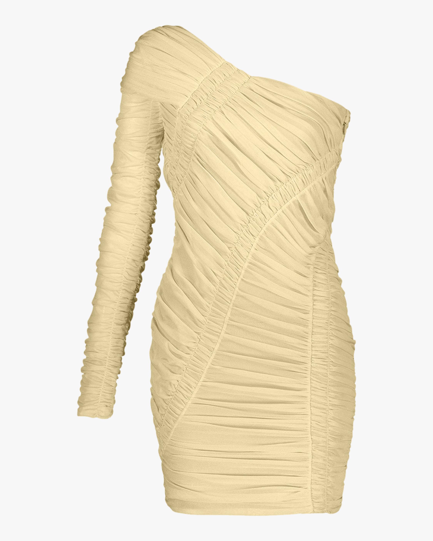 Herve Leger Draped Mini Dress 0