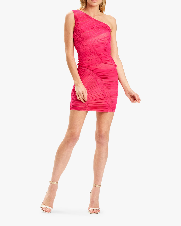 Herve Leger One-Shoulder Draped Mini Dress 1