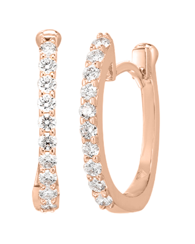 Roberto Coin Diamond Baby Hoop Earrings 0