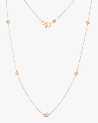 Roberto Coin Diamond Five-Station Necklace 2