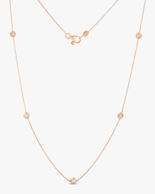 Roberto Coin Diamond Five-Station Necklace 0