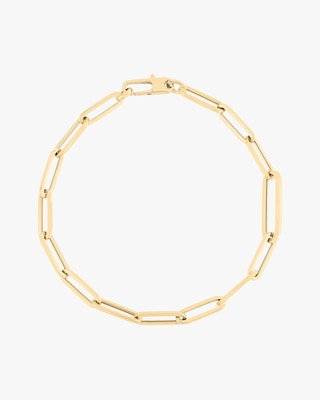 Roberto Coin Alternating Paperclip Chain Link Bracelet 2