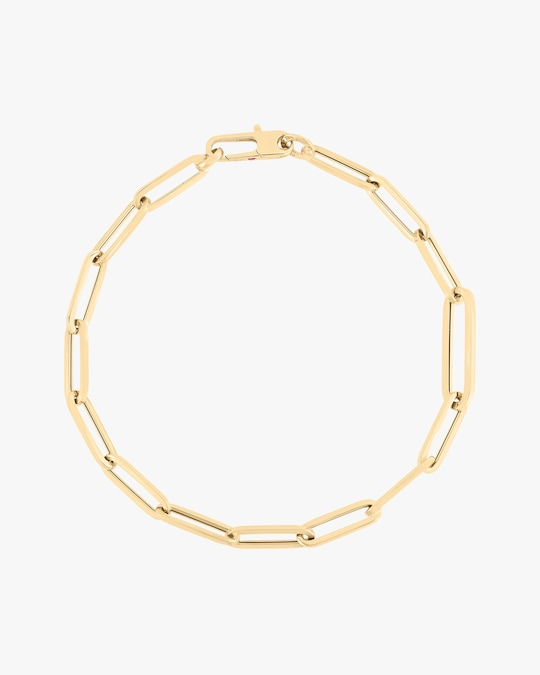 Roberto Coin Alternating Paperclip Chain Link Bracelet 0
