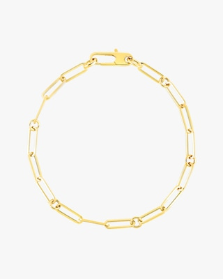 Roberto Coin Paperclip Chain Link Bracelet 2