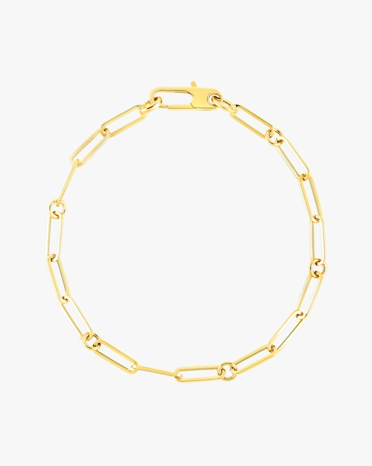 Roberto Coin Paperclip Chain Link Bracelet 0
