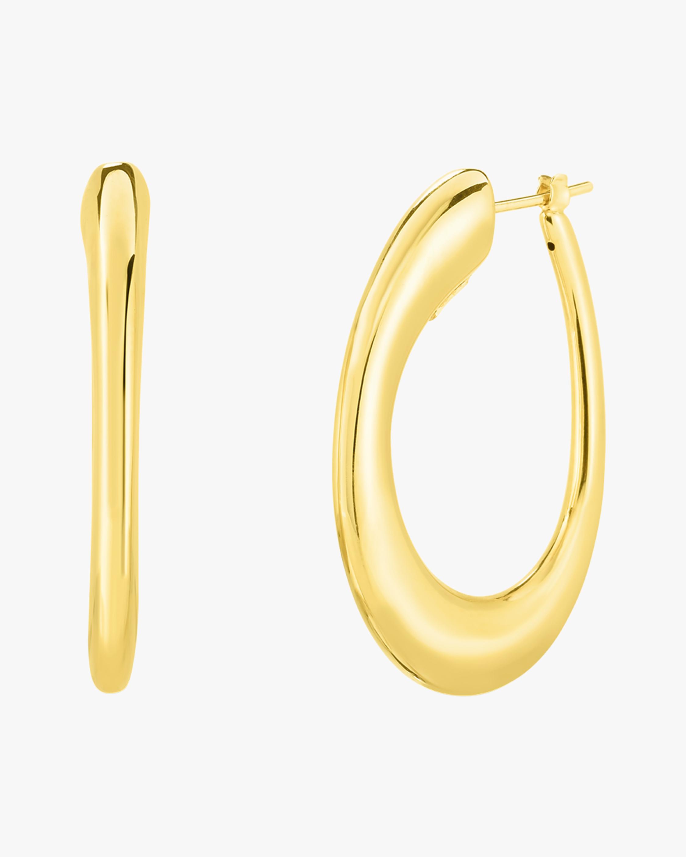 Roberto Coin Oro Classic Hoop Earrings 2