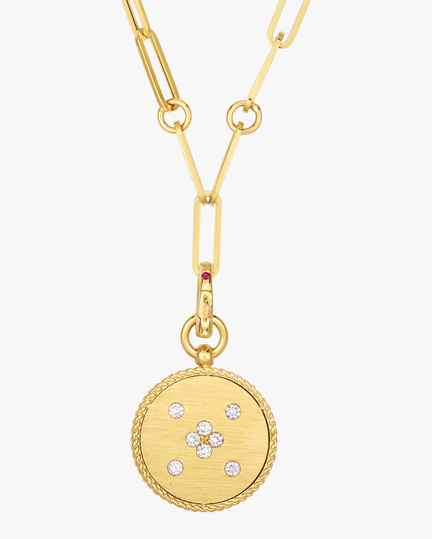 Roberto Coin Diamond Venetian Medallion Pendant Necklace 0
