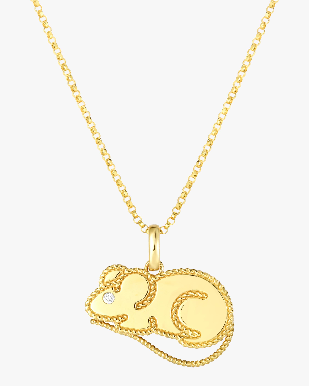 Roberto Coin Disney x Roberto Coin Cinderella Mouse Pendant Necklace 0
