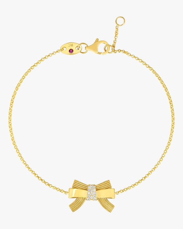 Roberto Coin Disney x Roberto Coin Cinderella Bow Bracelet 0