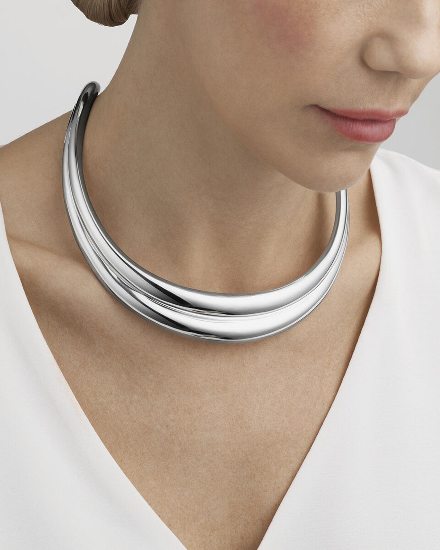 Georg Jensen Jewelry Curve Neck Ring 1
