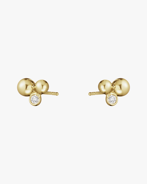 Georg Jensen Jewelry Moonlight Grape Diamond Stud Earrings 1