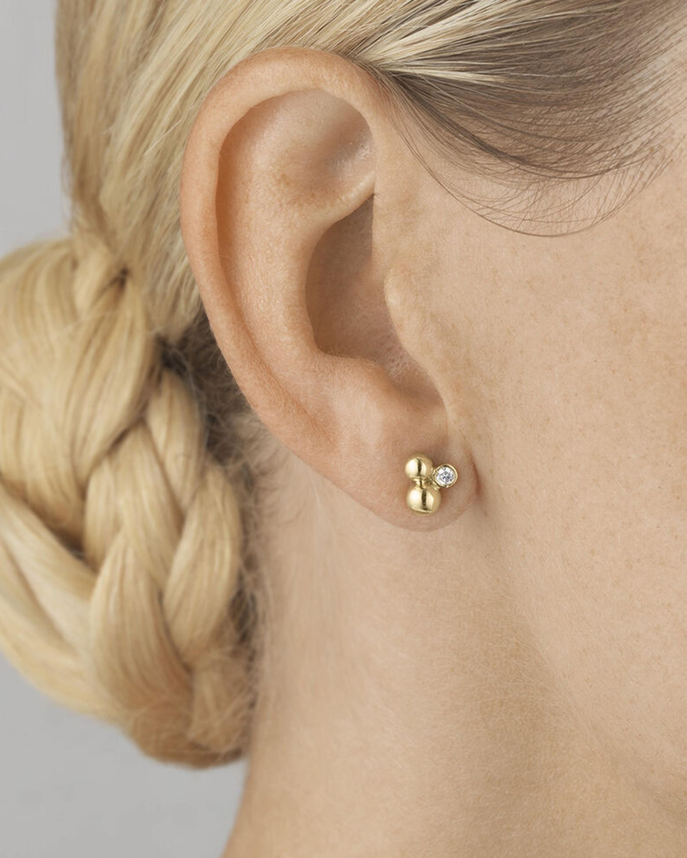 Georg Jensen Jewelry Moonlight Grape Diamond Stud Earrings 2