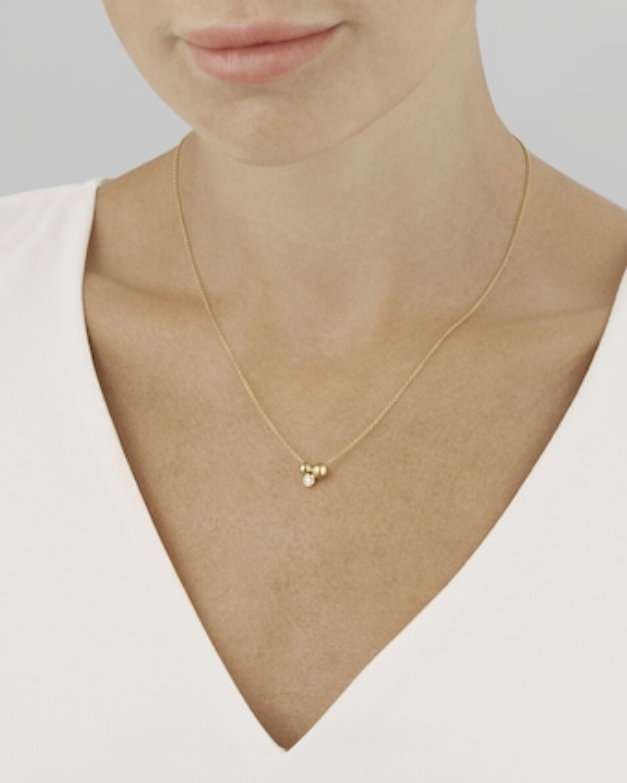 Georg Jensen Jewelry Grape Diamond Pendant Necklace 2
