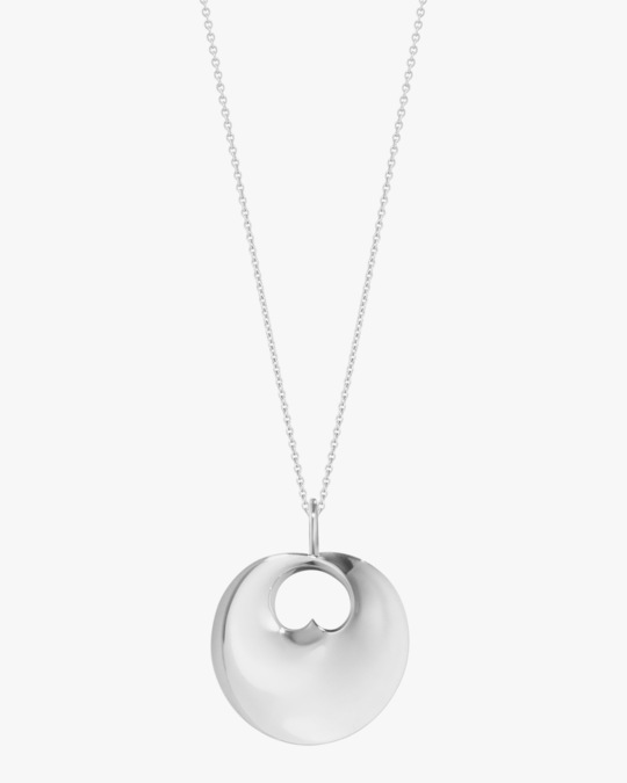 Georg Jensen Jewelry Large Hidden Heart Pendant Necklace 0