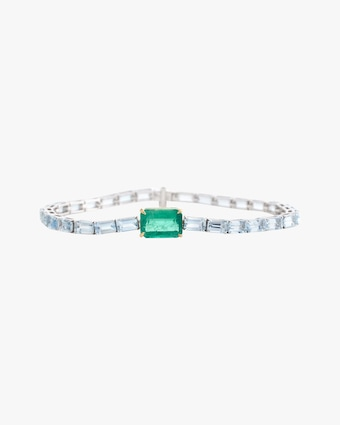 Yi Collection One-of-a-Kind Aquamarine & Emerald Demeter Bracelet 2