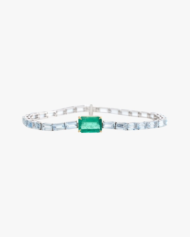 Yi Collection One-of-a-Kind Aquamarine & Emerald Demeter Bracelet 0