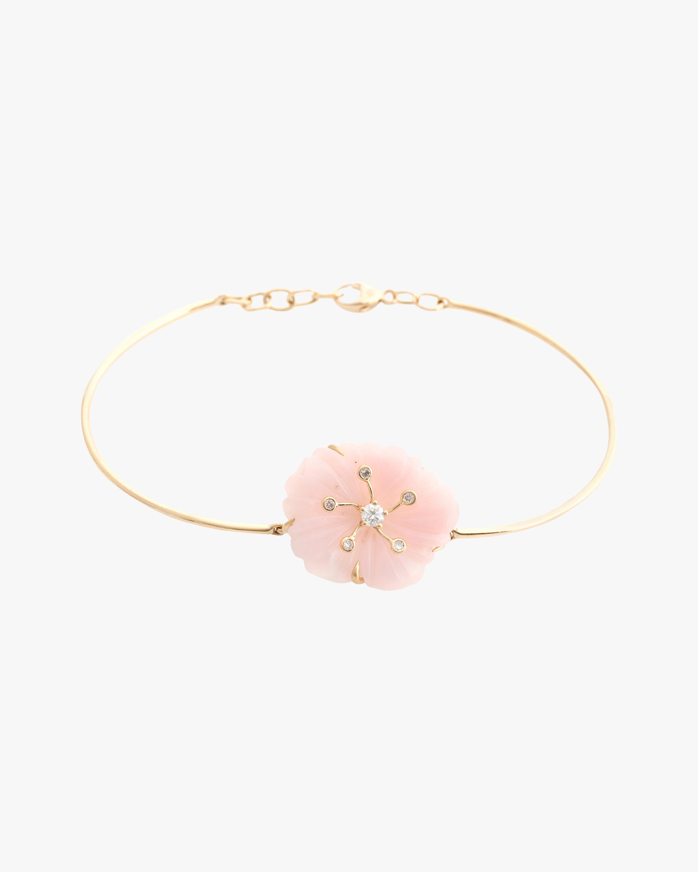 Yi Collection Pink Opal & Diamond Bangle 0