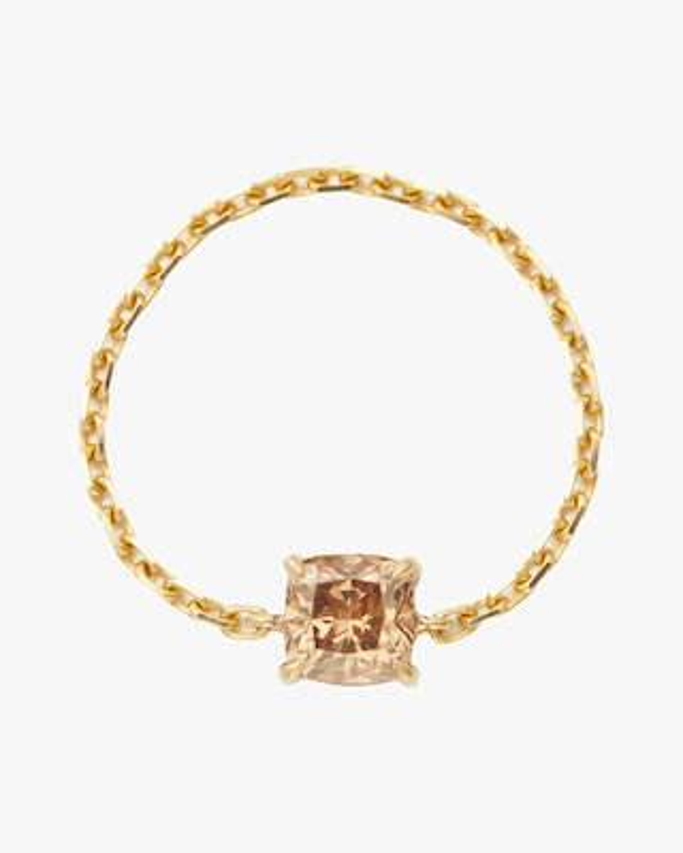 Yi Collection Cognac Cushion-Cut Diamond Chain Ring 2