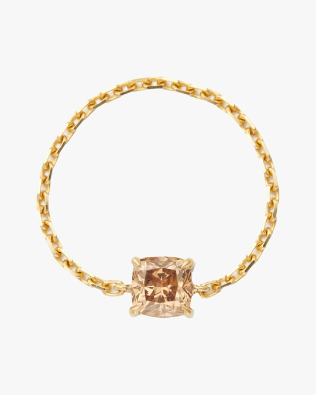 Yi Collection Cognac Cushion-Cut Diamond Chain Ring 0