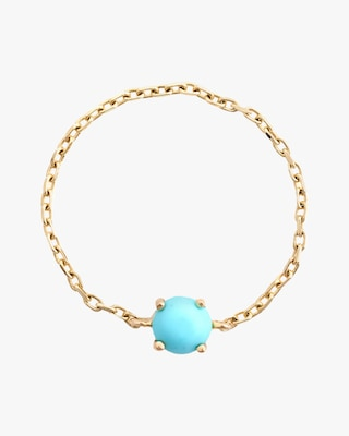 Yi Collection Turquoise Dot Chain Ring 2