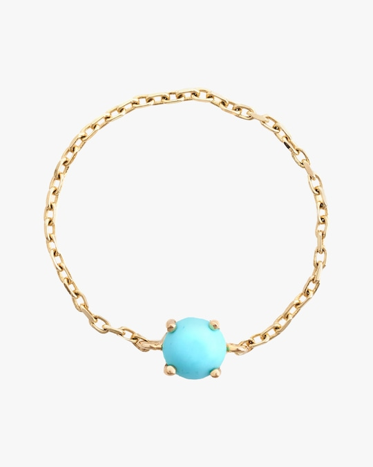 Yi Collection Turquoise Dot Chain Ring 0