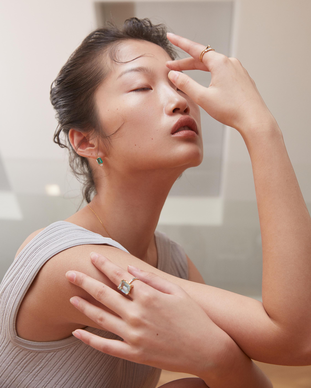 Yi Collection Emerald & Diamond Awakening Earrings 1