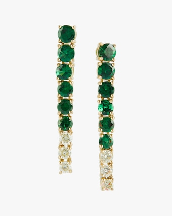 Yi Collection Tsavorite & Canary Diamond Dream Links Earrings 1