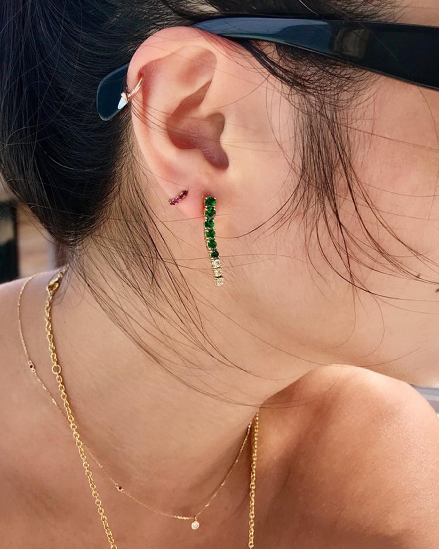 Yi Collection Tsavorite & Canary Diamond Dream Links Earrings 1