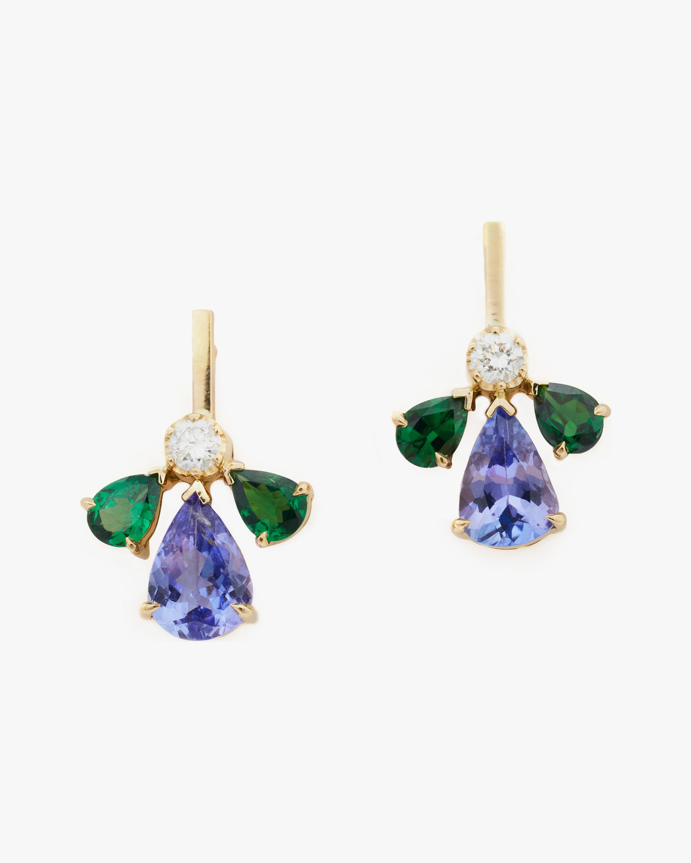 Yi Collection Tsavorite & Tanzanite Fauna Earrings 2