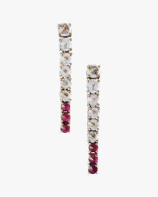 Yi Collection White Sapphire & Ruby Dream Links Earrings 1
