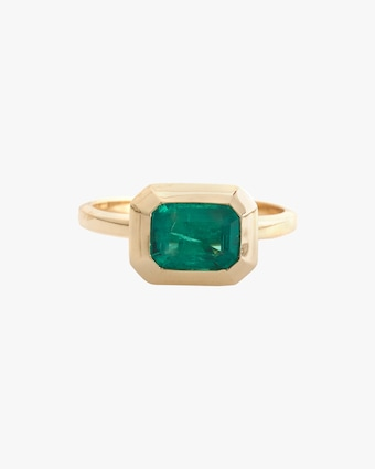 Yi Collection Emerald Nouveau Ring 2