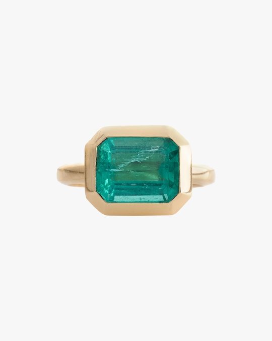 Yi Collection One-of-a-Kind Emerald Nouveau Supreme Ring 0