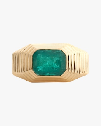 Yi Collection Emerald Pyramid Ring 2