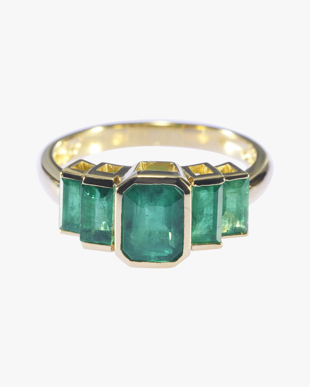Emerald Tonal Deco Ring