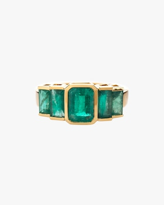 Yi Collection Emerald Tonal Deco Ring 1
